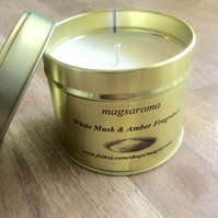 White Musk & Amber Fragrance Candle