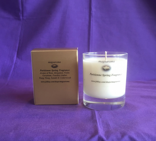 Parisienne Spring Fragrance Candle Glass Container