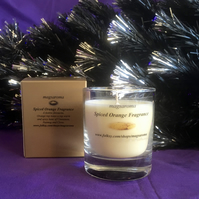 Spiced Orange Fragrance Glass Candle
