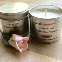 English Rose Fragrance Candle