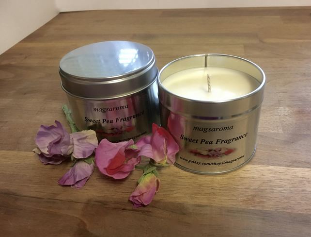 Sweet pea Fragrance Candle