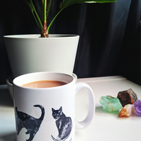 Illustrated Cat Mug