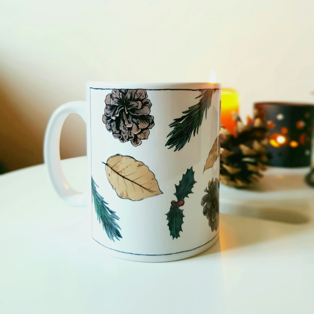 Winter Botanical Mug