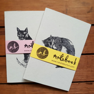 Pack of 2 Cat Notebooks A6 Recycled