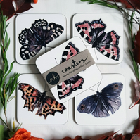 Butterfly Coasters - Set of 4 Illustrated Coasters