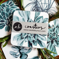 Botanical Coasters - Set of 4