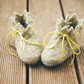 Natural children white wool handmade felted felt slippers, house shoes, clogs