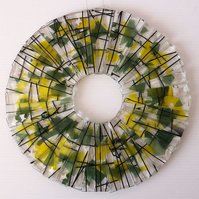 Circle of seasons – Summer. Fused glass hanging decoration, suncatcher.