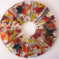Circle of seasons – Autumn. Fused glass hanging decoration, suncatcher.