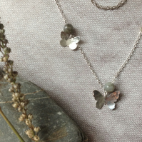 Sterling Silver and Labradorite Butterfly necklace