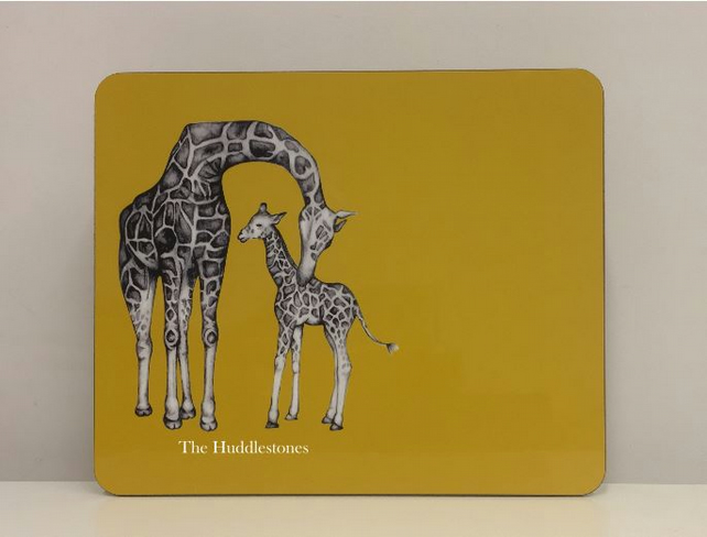 Personalised Giraffe Placemat and Coaster