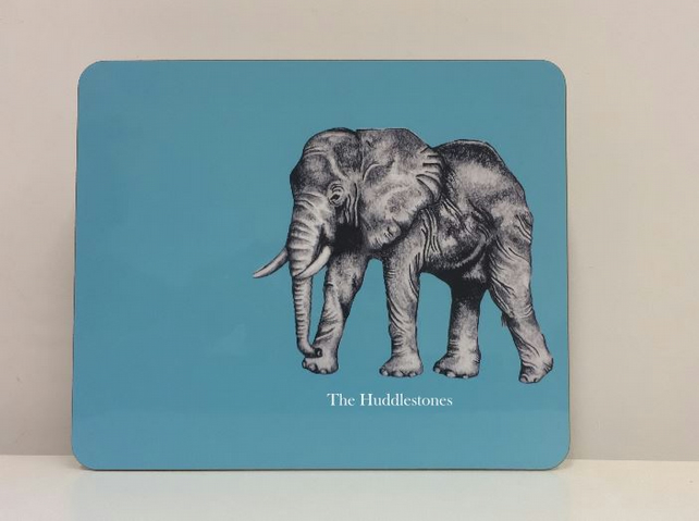 Personalised Elephant Placemat and Coaster