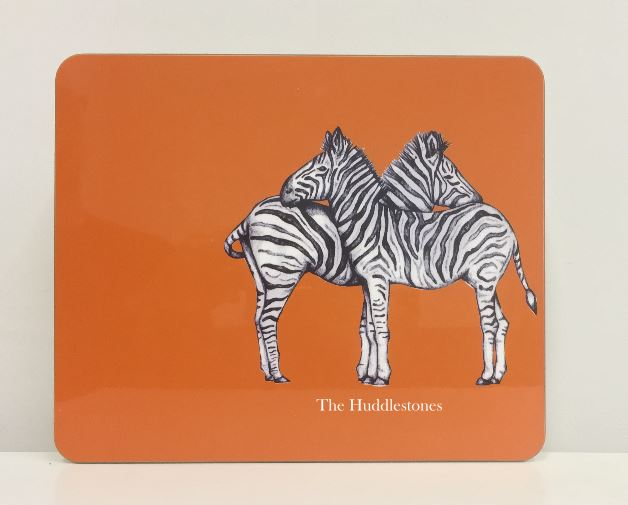 Personalised Zebra Placemat and Coaster
