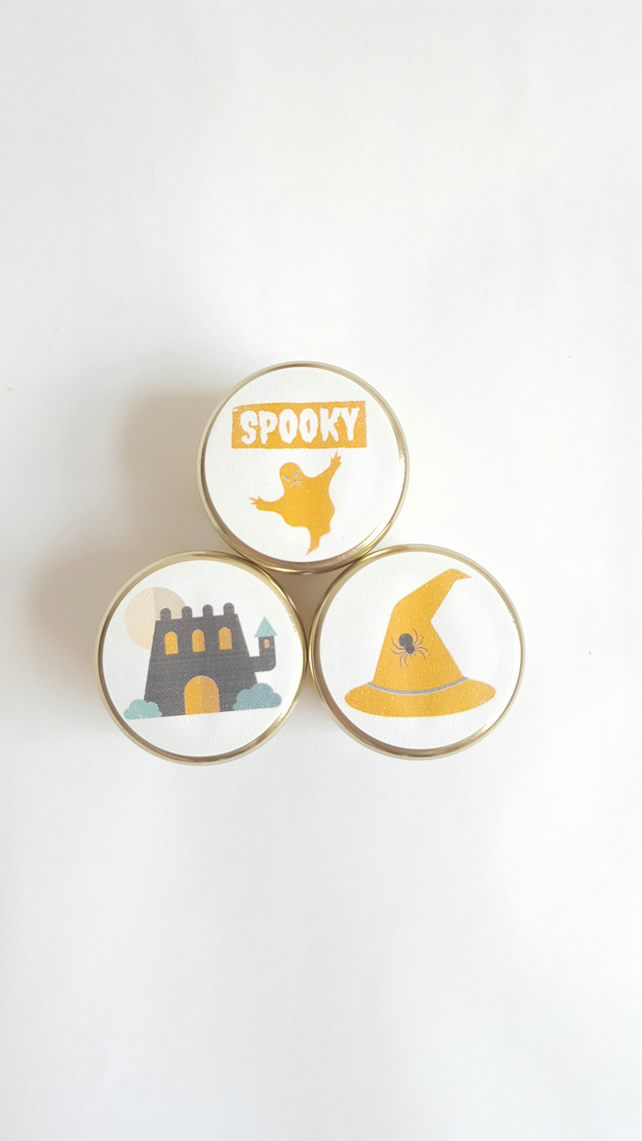 Halloween Candle Set - Halloween Light - Trick or Treat - Beeswax Candle