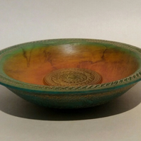Decorated Sycamore Bowl
