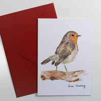 Robin Card, with red envelope