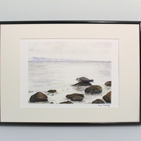Seal at Sannox, Arran Seascape, Unframed Giclee Reproduction, A4