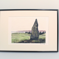 The Druid Stone, Arran, Unframed Giclee Reproduction, A4