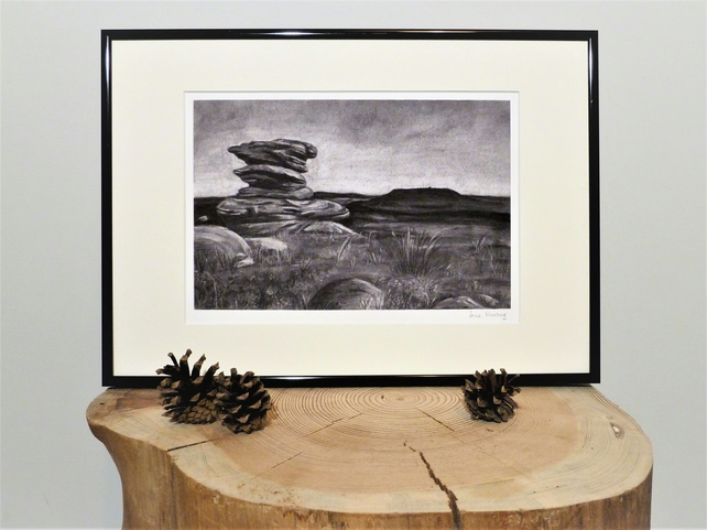Gritstone Outcrop, Unframed Giclee Reproduction, A4