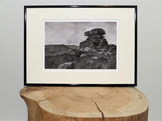 Mother Cap, Peak Distict UK, Unframed Giclee Reproduction, A4