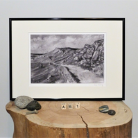 Secret Stanage, Unframed Giclee Print, A4