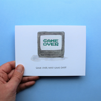 Game Over, Man! Game Over! Movie Quote Illustration - A6 Greeting Card