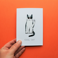 Cool Cat A6 Greetings Card