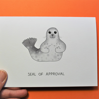 Seal of Approval Greetings card with envelope
