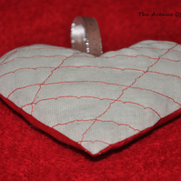 Embroidered Stuffed Hanging Heart