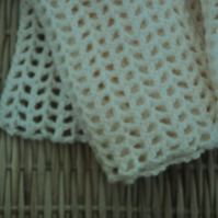 SALE HALF PRICE Crocheted mesh scarf