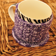 SALE HALF PRICE Purple cup cozy and coaster set