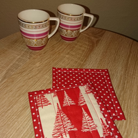 Christmas coasters - set of 2