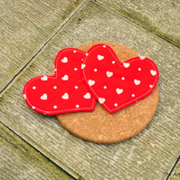SALE HALF PRICE Heart shaped coaster - Valentines