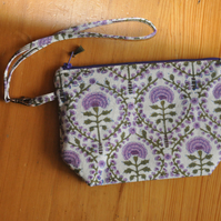 Purple wristlet bag