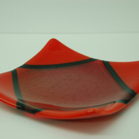 Geometric Fused Glass Dish