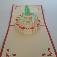 Wedding cake 3D Pop Up Greeting Card Handmade Happy Birthday Wedding Anniversary
