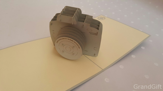 Camera 3D Pop Up Greeting Cards Anniversary Baby Birthday Easter Halloween Mothe