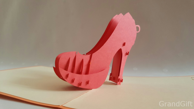 High heel woman 3D Pop Up Greeting Cards Anniversary Baby Birthday Easter Hallow