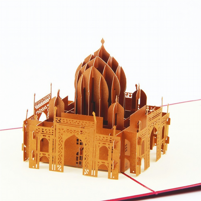 mosque taj mahal Ahmet Camii 3D Pop Up Greeting Cards Anniversary Baby B