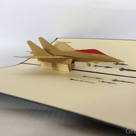 airplane f16 3D pop up cards vintage air plane creative gifts postcard birthday