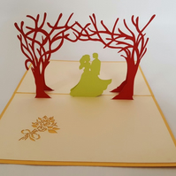 Wedding blank invitation 3D Pop Up Greeting Card Handmade Happy Birthday