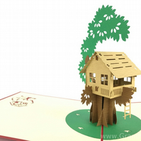 Treehouse 3D Pop Up Greeting Cards Anniversary Baby Birthday Easter Halloween Mo