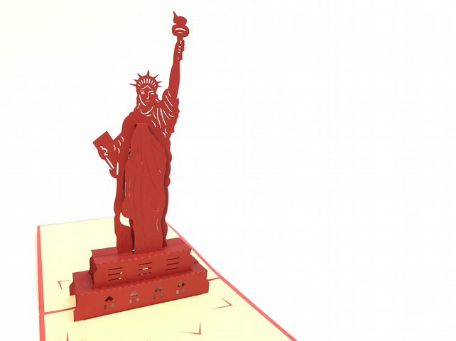 state of the liberty NY New York Handmade 3D Pop UP Greeting & Thank You Card