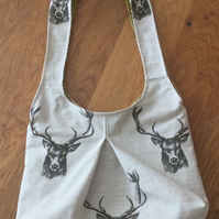 Slouchy Stag Head Shoulder Bag FREE P&P