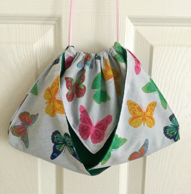 Butterfly Print Origami Toiletry Bag