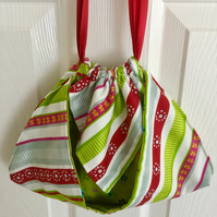Origami Style Drawstring Fabric Bag