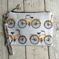 Cycle Inspired Fabric Clutch Bag FREE P&P