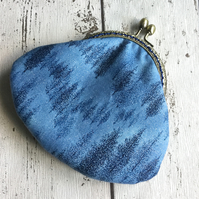 Blue Forest Themed Clasp Coin Purse