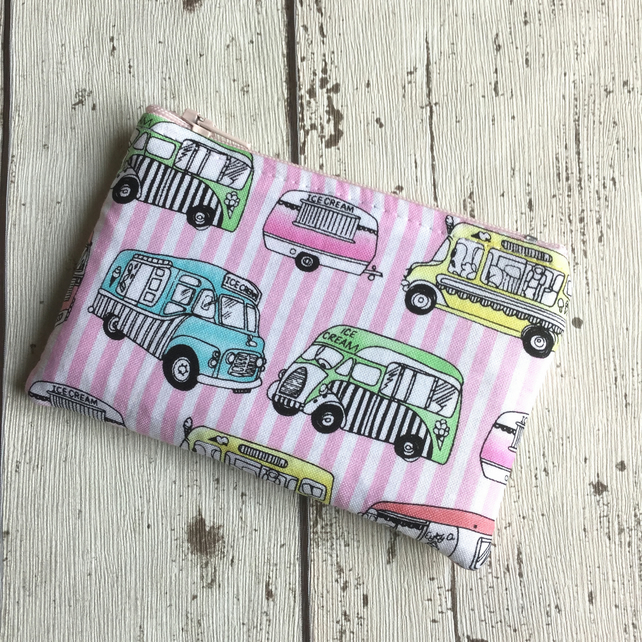 Ice Cream Van Themed Zipped Coin Purse