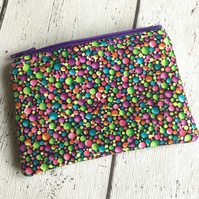 Eye Popping Fabric Zipped Coin Purse